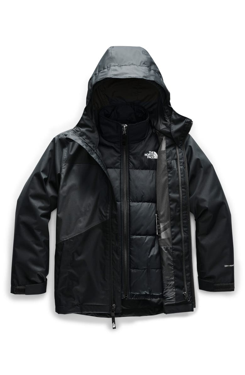THE NORTH FACE Clement Triclimate<sup>™</sup> 3-in-1 Jacket, Main, color, TNF BLACK