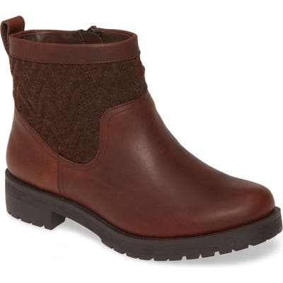 Vionic Maple Quilted Bootie, Brown