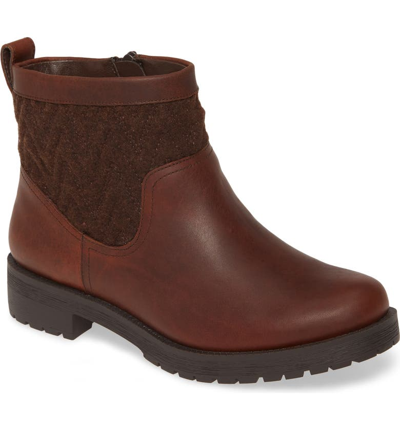 VIONIC Maple Bootie, Main, color, CHOCOLATE LEATHER