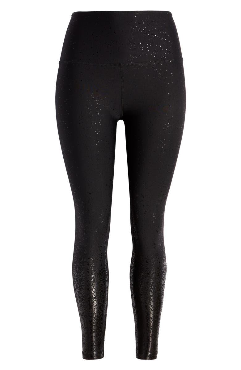 BEYOND YOGA Ombré High Waist 7/8 Leggings, Main, color, BLACK FOIL SPECKLE