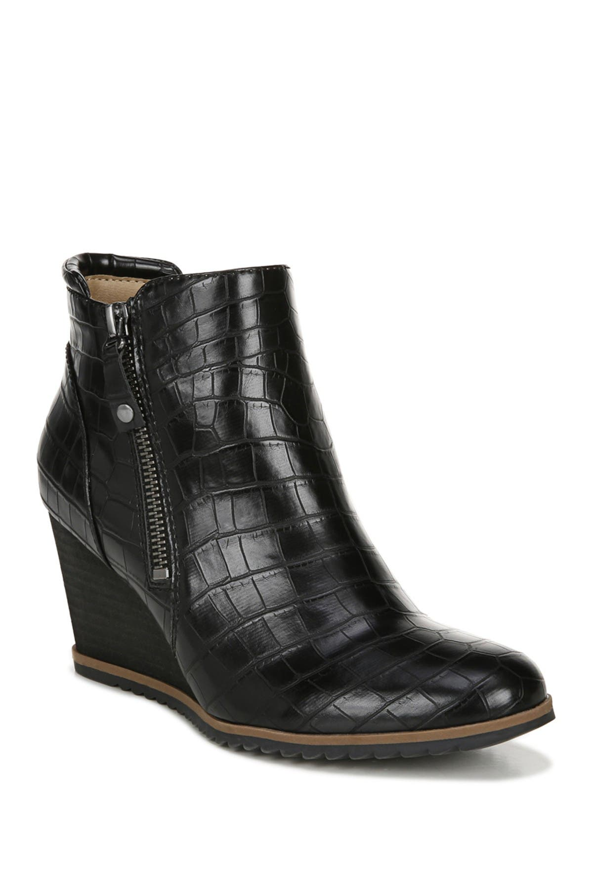 Image of SOUL Naturalizer Haley Croc Embossed Wedge Bootie