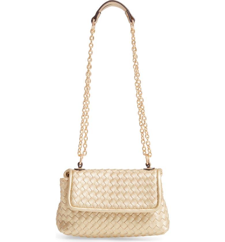 SONDRA ROBERTS Woven Crossbody Bag, Main, color, GOLD