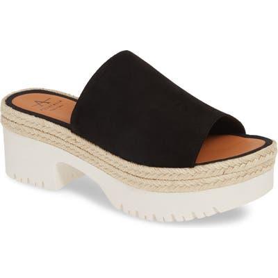 Aquatalia Whitney Espadrille Platform Sandal, Black