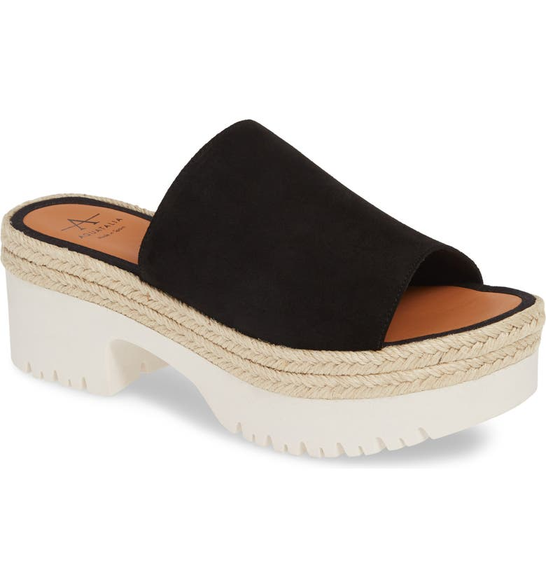 AQUATALIA Whitney Espadrille Platform Sandal, Main, color, BLACK