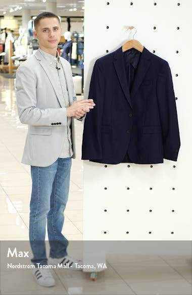 Nobis Trim Fit Bird's Eye Wool Blazer, sales video thumbnail