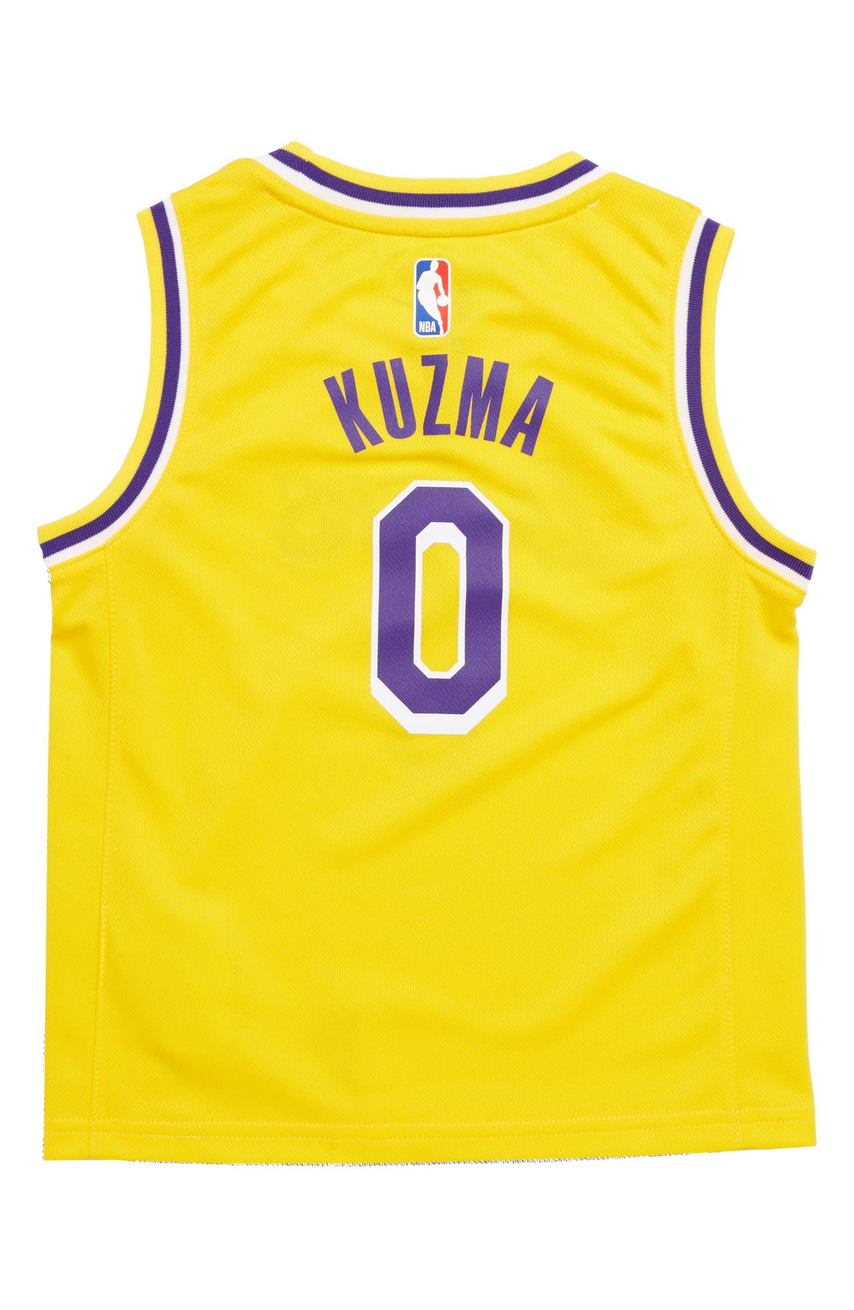 premium selection b18a1 979a8 NBA Logo Los Angeles Lakers Kyle Kuzma Basketball Jersey