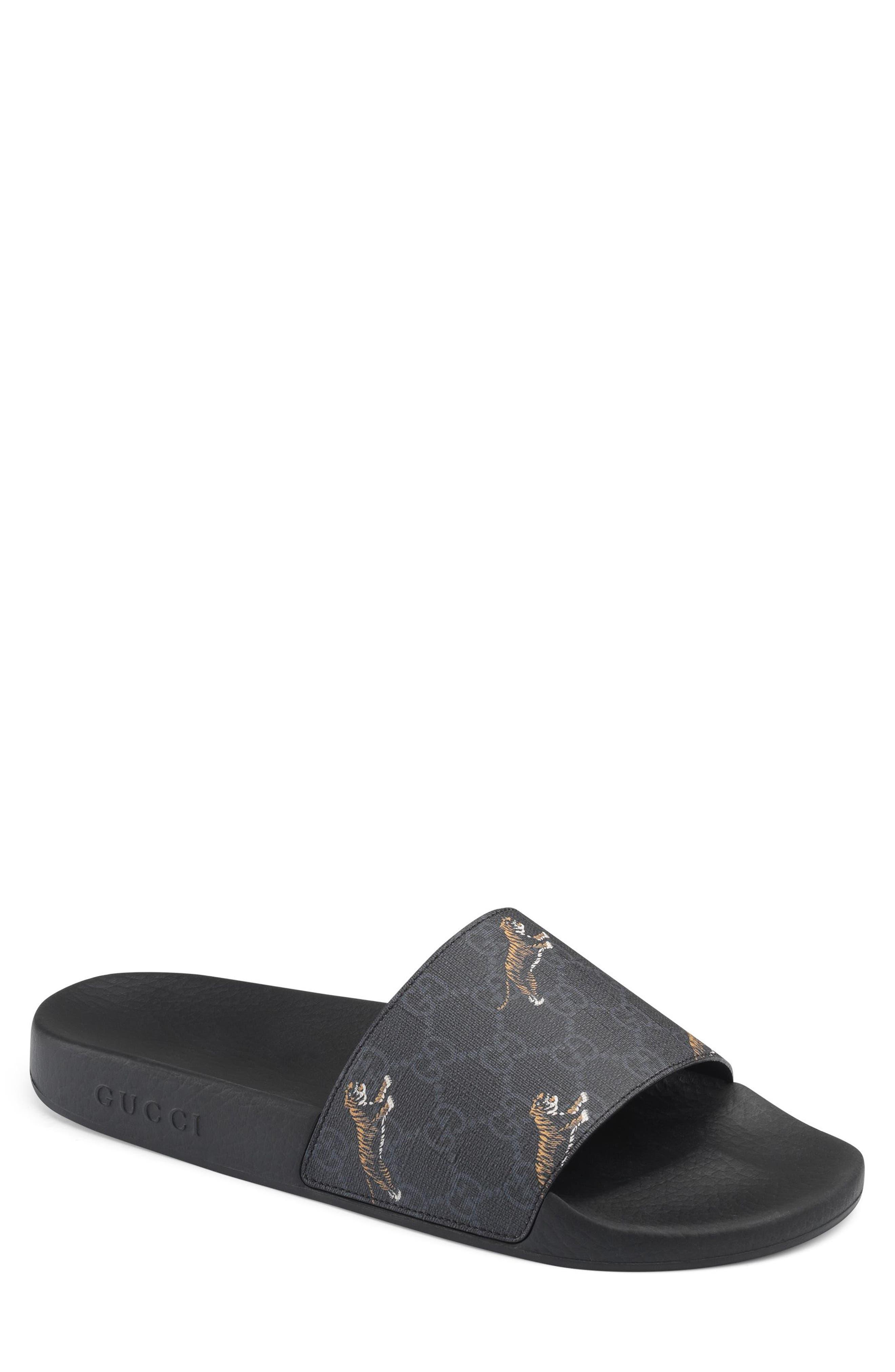 Gucci Tiger Print Slide Sandal (Men