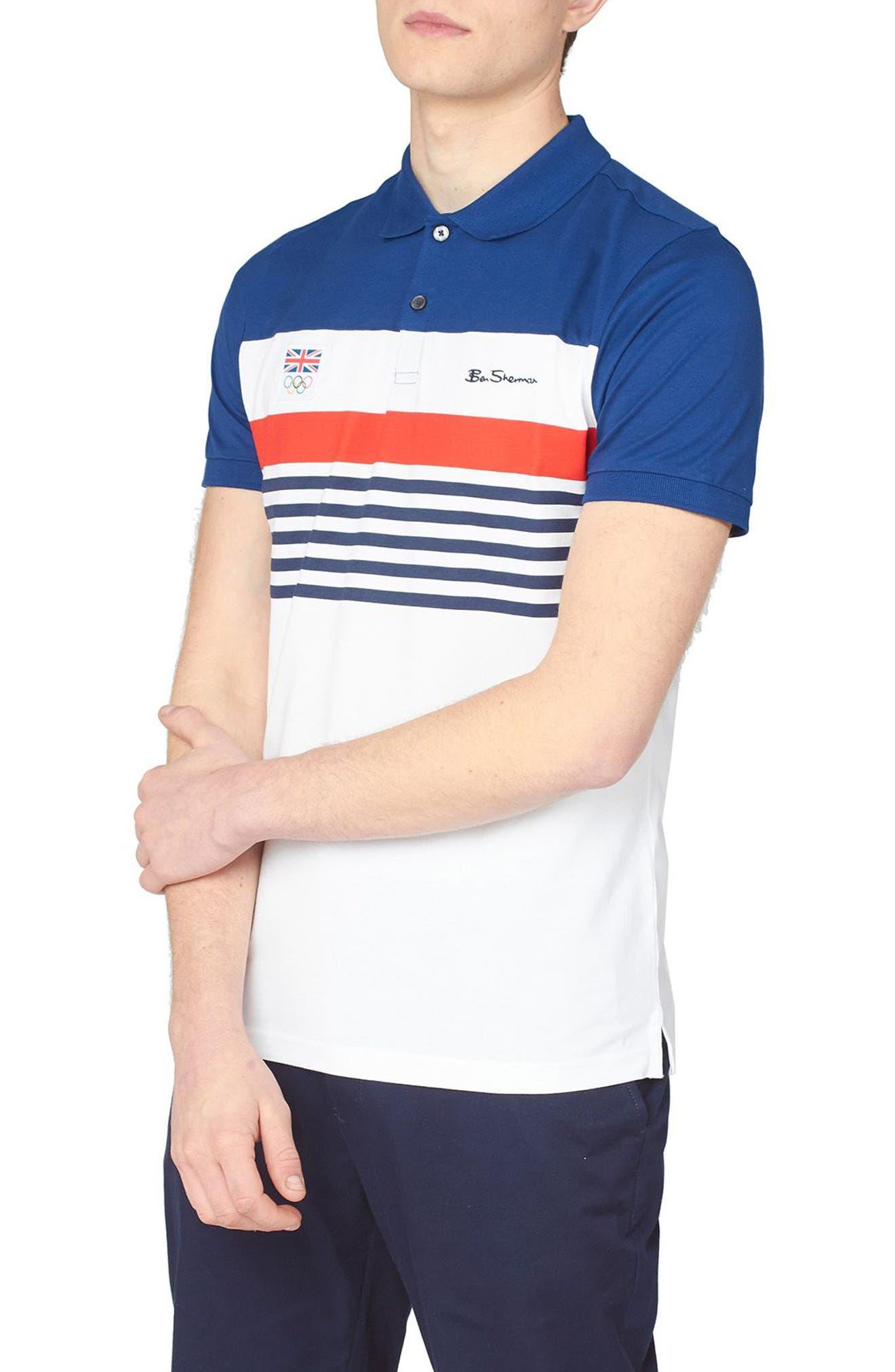 Team Gb Chest Stripe Polo Shirt