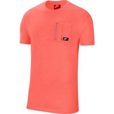 Nike Tech Pack Zip Pocket T-Shirt, Orange