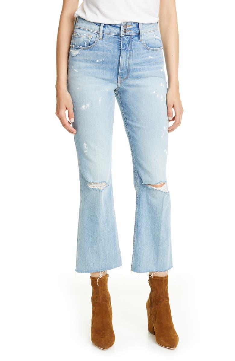FRAME Sylvie Heritage Kick Boot Jeans, Main, color, STUNT