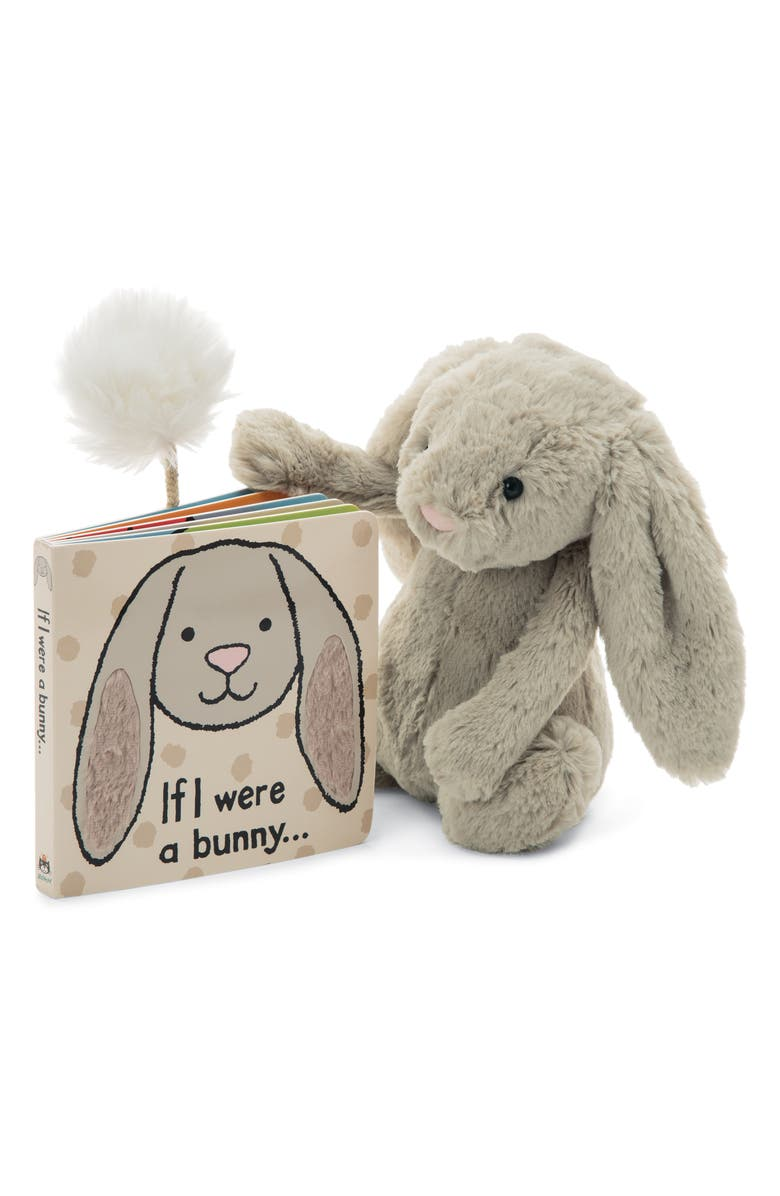 JELLYCAT 'If I Were a Bunny' Board Book & Stuffed Animal, Main, color, BEIGE