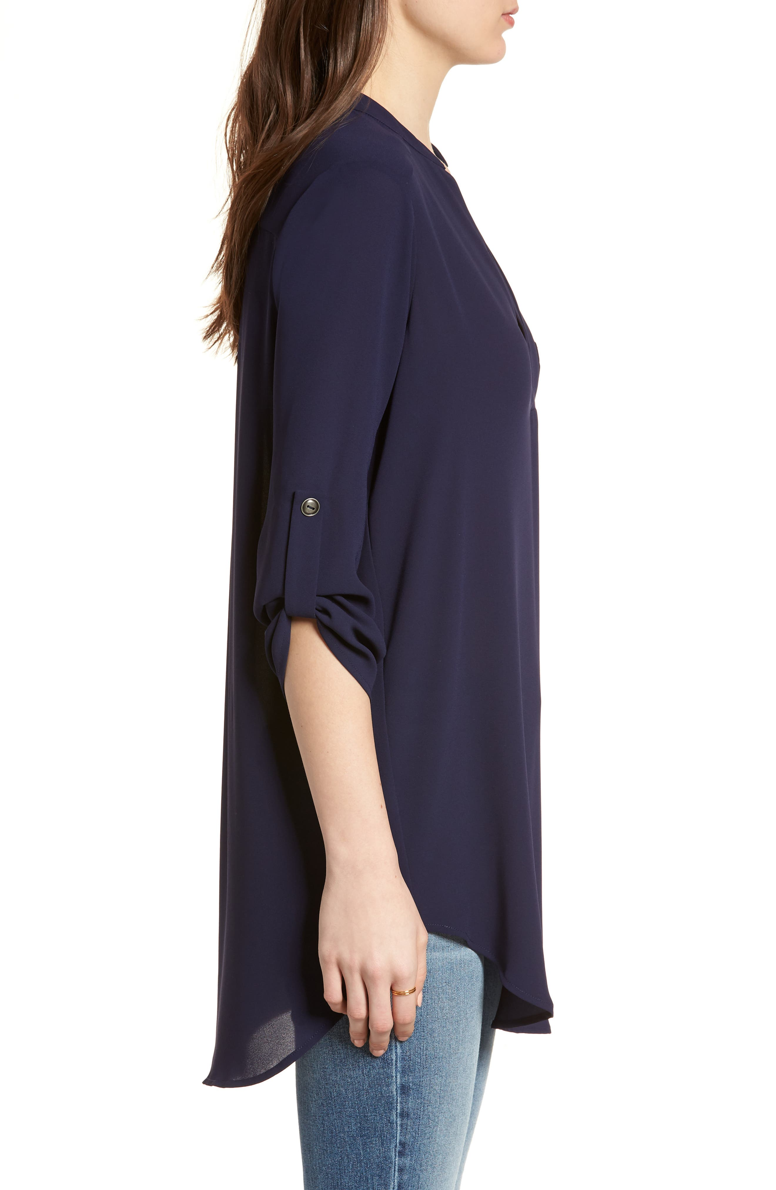 ,                             Perfect Roll Tab Sleeve Tunic,                             Alternate thumbnail 268, color,                             403