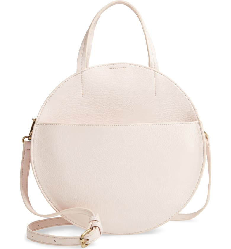 BP. Round Crossbody Bag, Main, color, BEIGE ANGORA