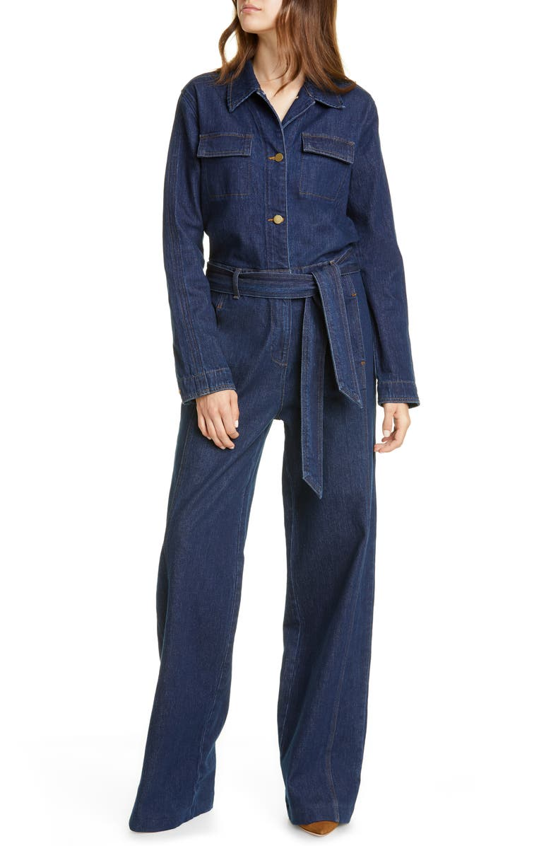 FRAME Vintage Denim Coveralls, Main, color, 401