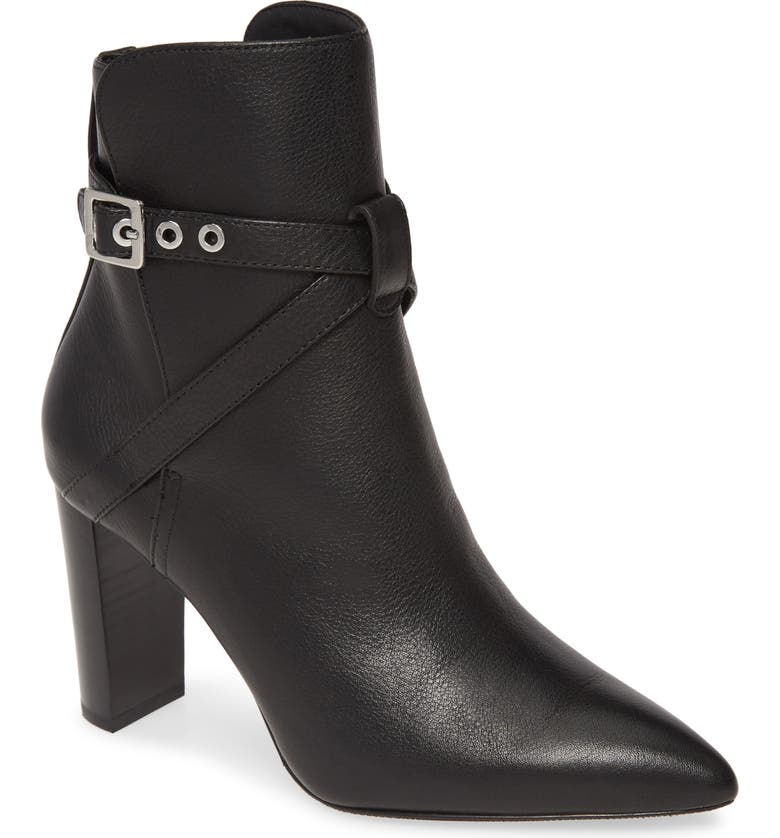 PAIGE Camille Pointed Bootie, Main, color, BLACK