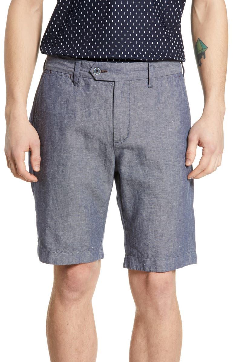 TED BAKER LONDON Spainn Slim Fit Shorts, Main, color, 410