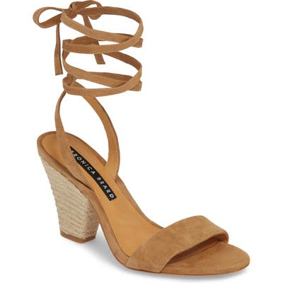 Veronica Beard Remy Lace-Up Sandal - Brown