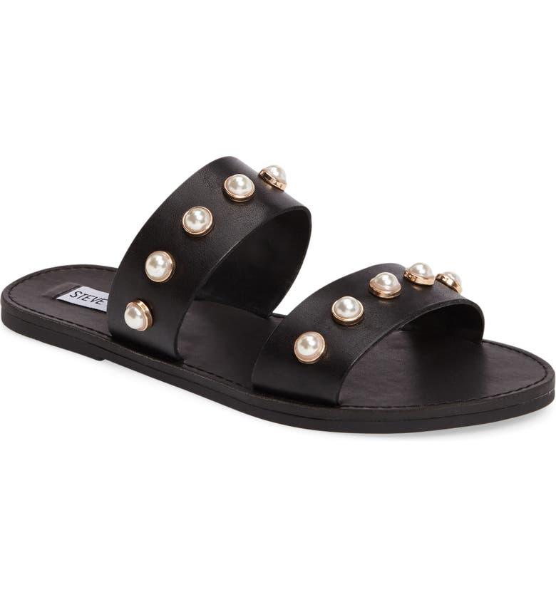 STEVE MADDEN Jole Embellished Slide Sandal, Main, color, 001