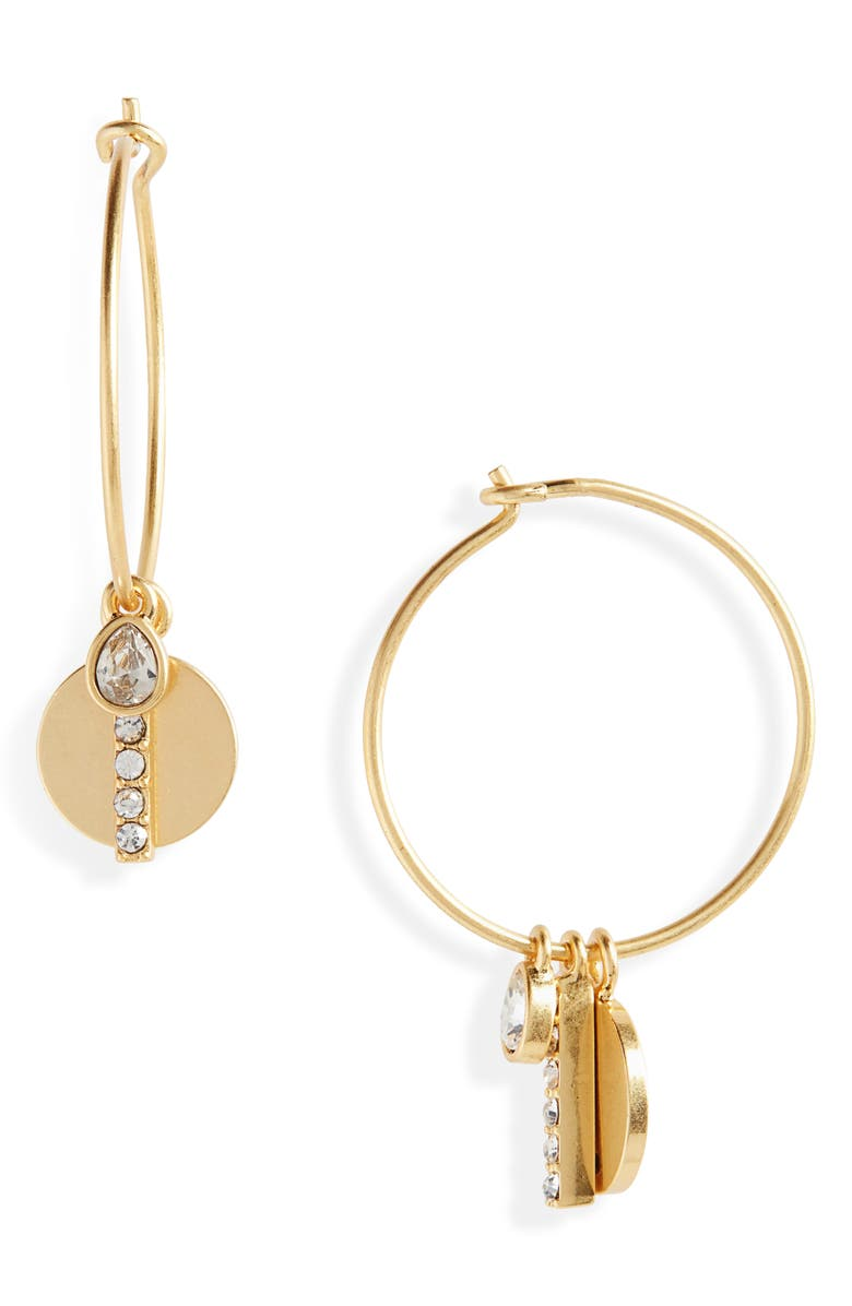 MADEWELL Pavé Mix-and-Match Charm Hoop Earrings, Main, color, 710