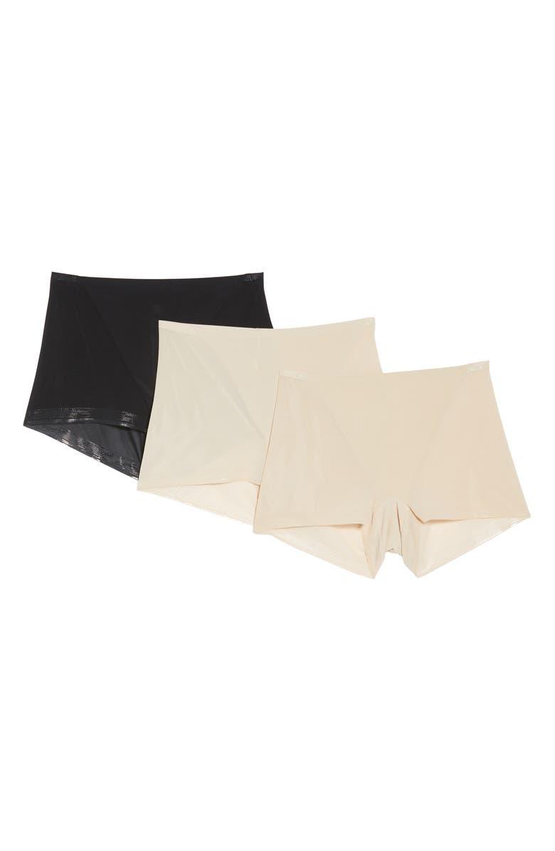 TC Pack of 3 Micro Mesh Boyshorts, Main, color, NUDE/ BLACK
