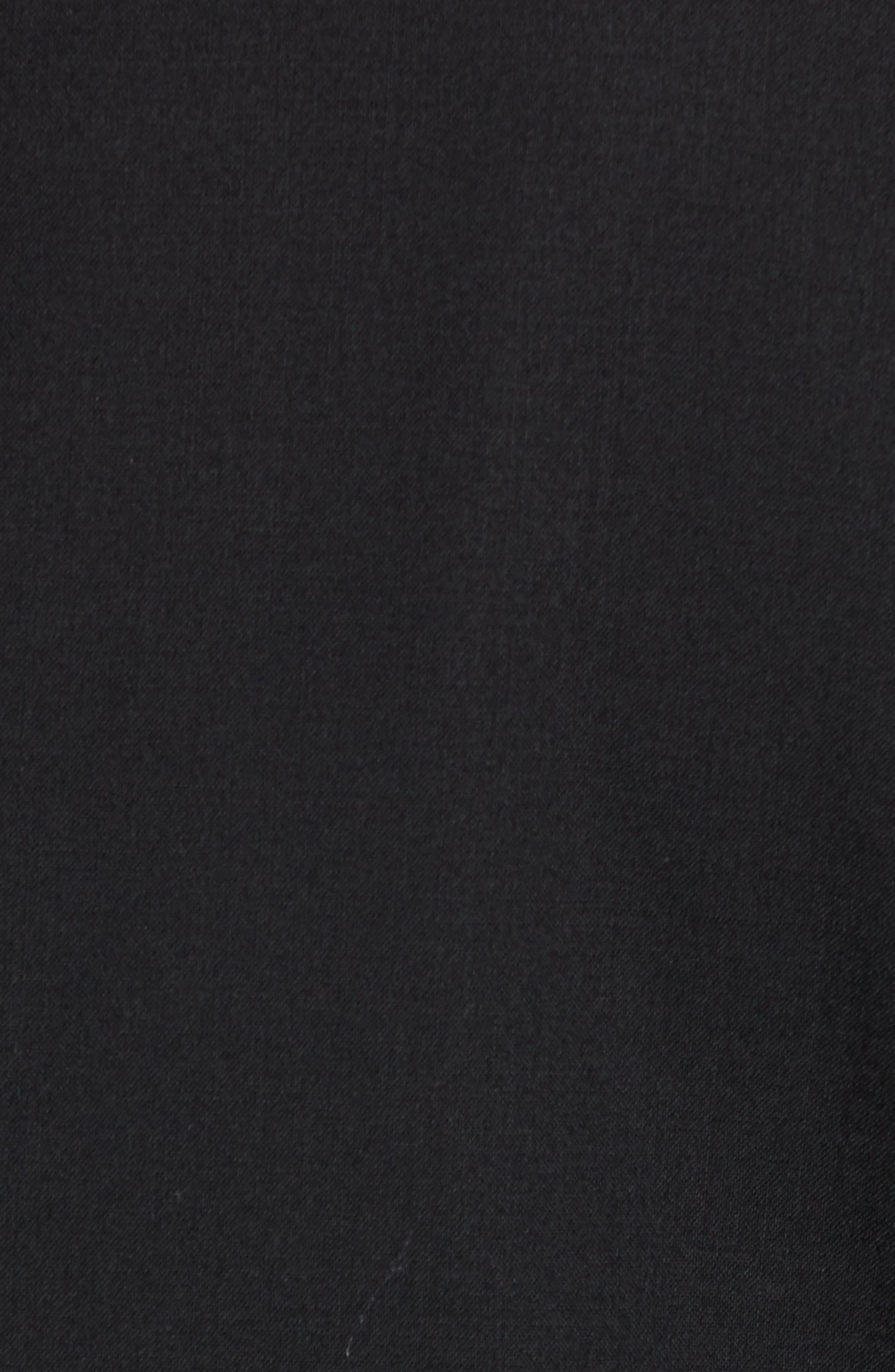 ,                             Trim Fit Stretch Wool Tuxedo Jacket,                             Alternate thumbnail 6, color,                             BLACK
