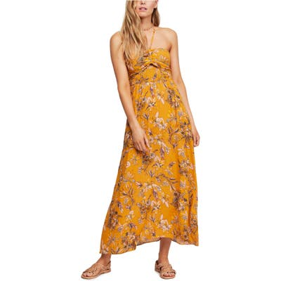 Free People One Step Ahead Maxi Dress, Metallic