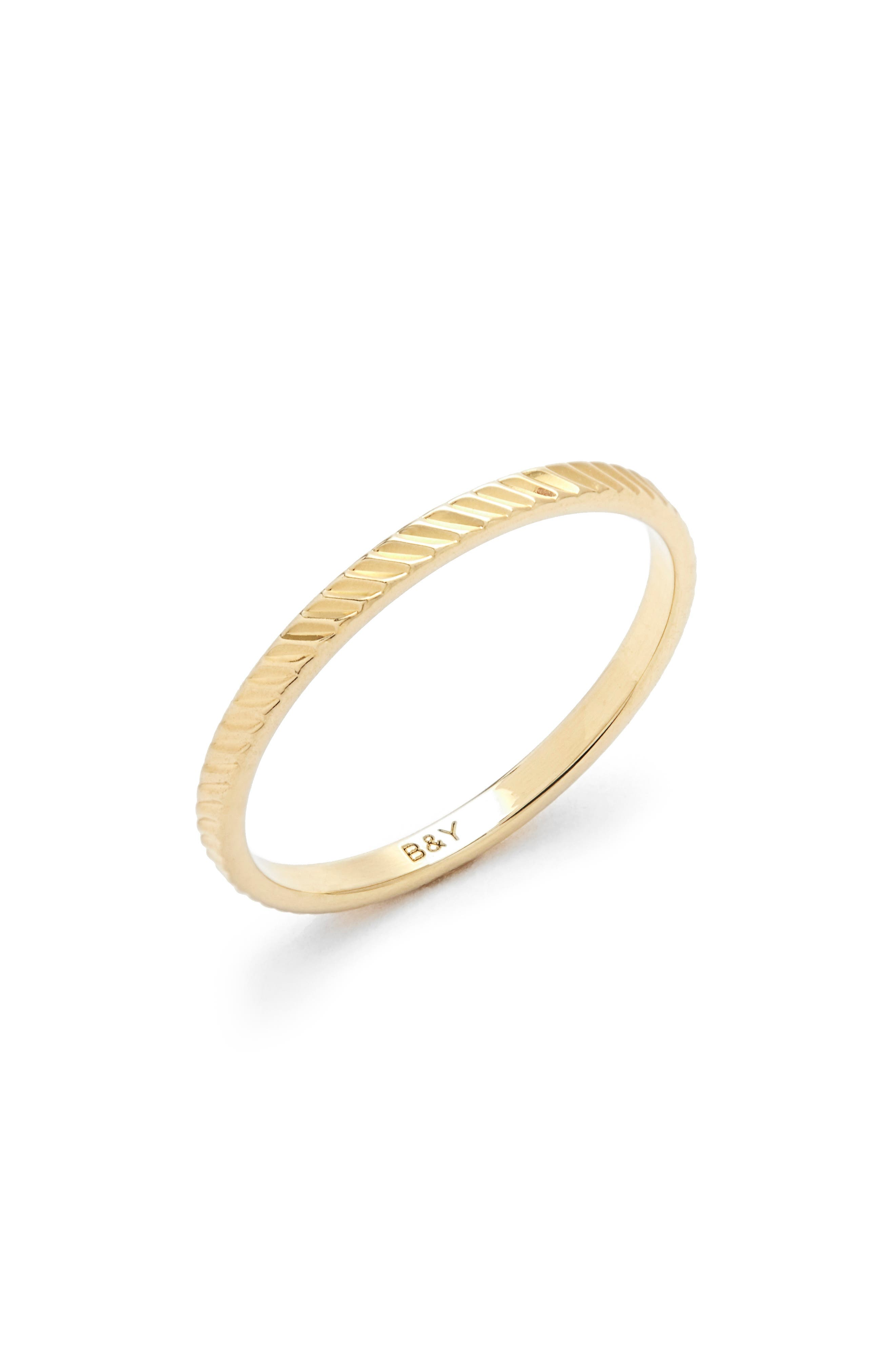 Nell Extra Thin Textured Stacking Ring
