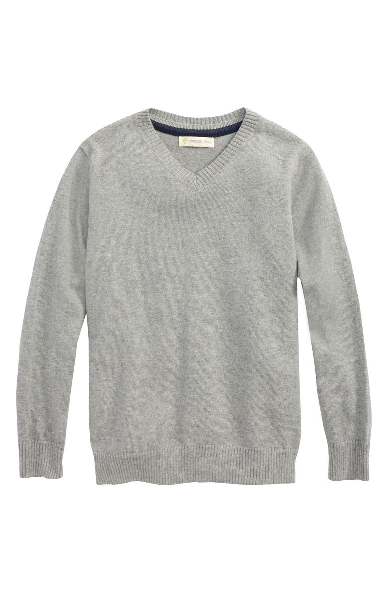 NORDSTROM Tucker + Tate V-Neck Sweater, Main, color, GREY MEDIUM HEATHER