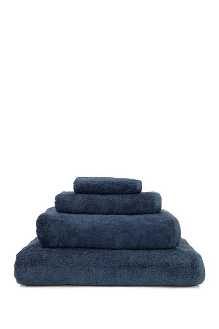 Image of LINUM HOME Midnight Blue Soft Twist 4-Piece Towel Set