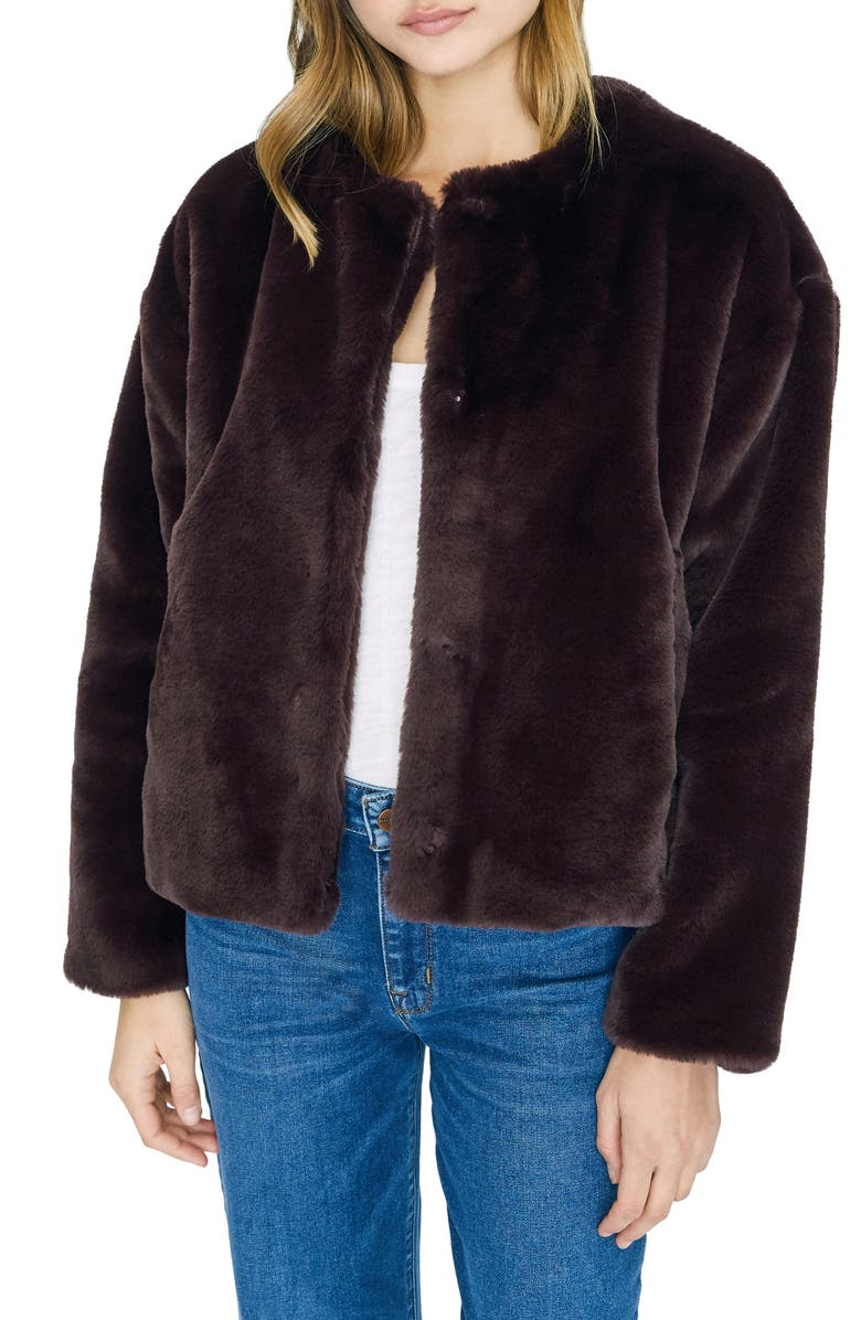 SANCTUARY Starry Night Faux Fur Jacket, Main, color, AMETHYST