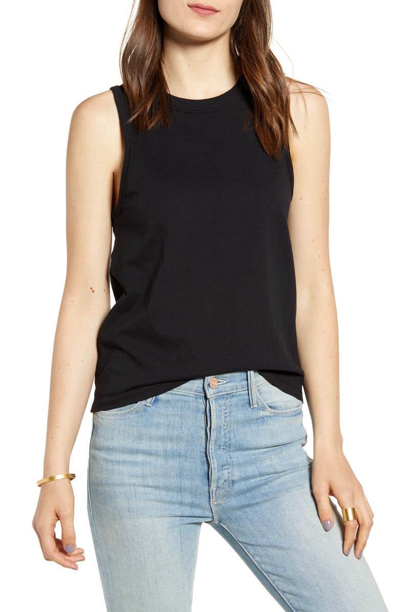 MADEWELL Northside Vintage Muscle Tank, Main, color, TRUE BLACK