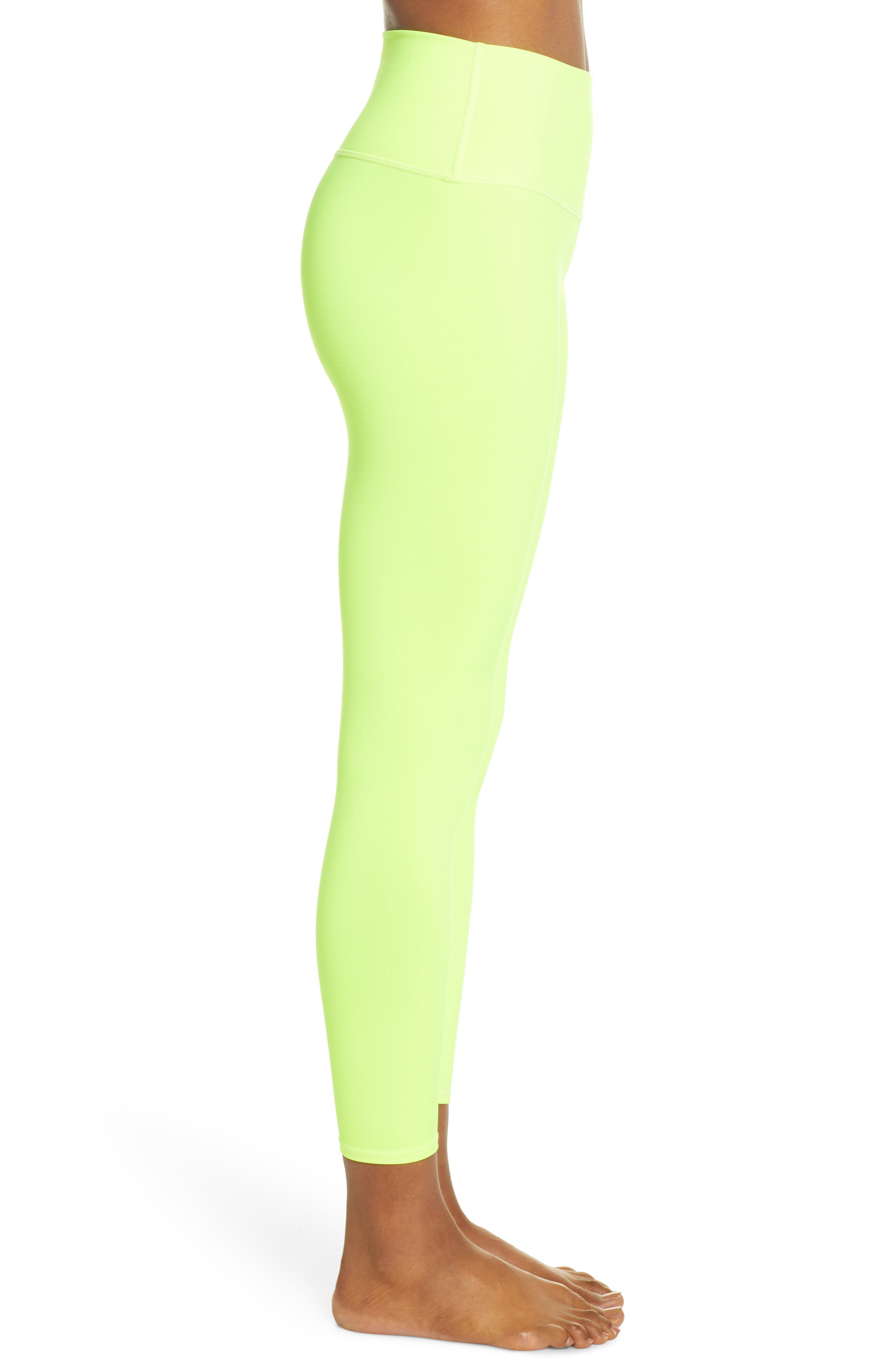 ,                             Airbrush 7/8 High Waist Leggings,                             Alternate thumbnail 4, color,                             HIGHLIGHTER