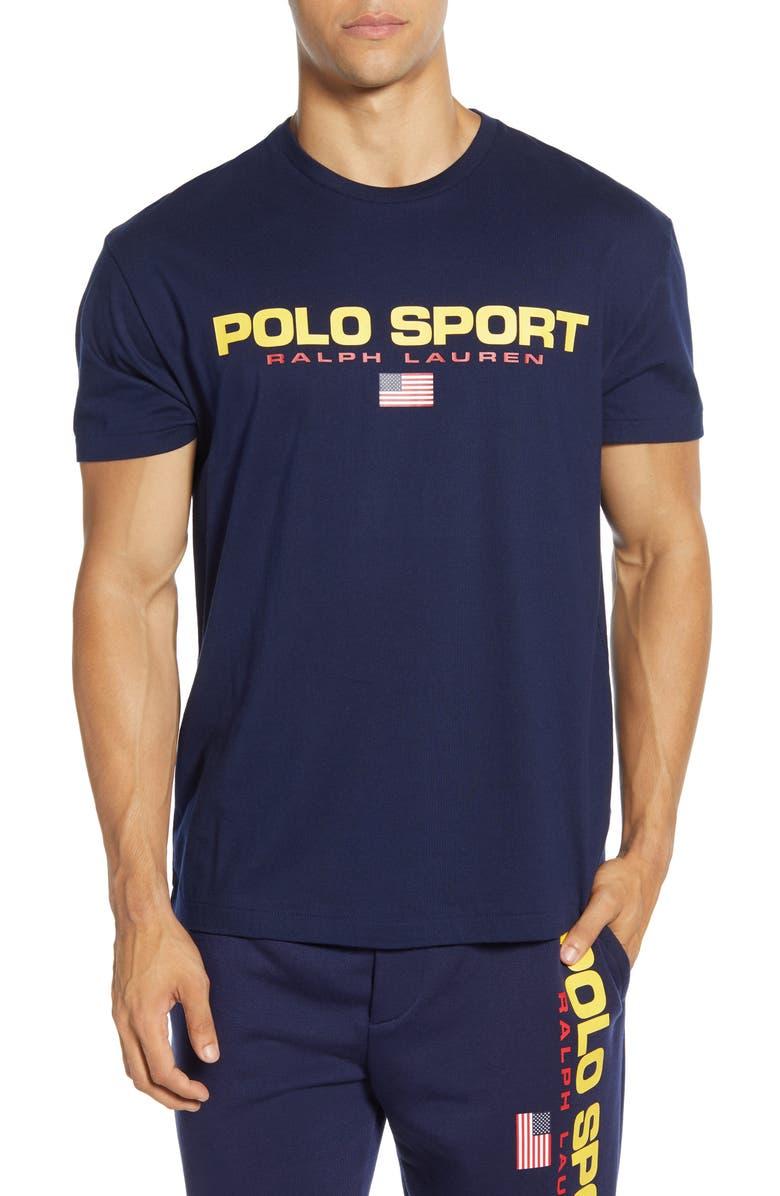 POLO RALPH LAUREN Polo Sport T-Shirt, Main, color, CRUISE NAVY