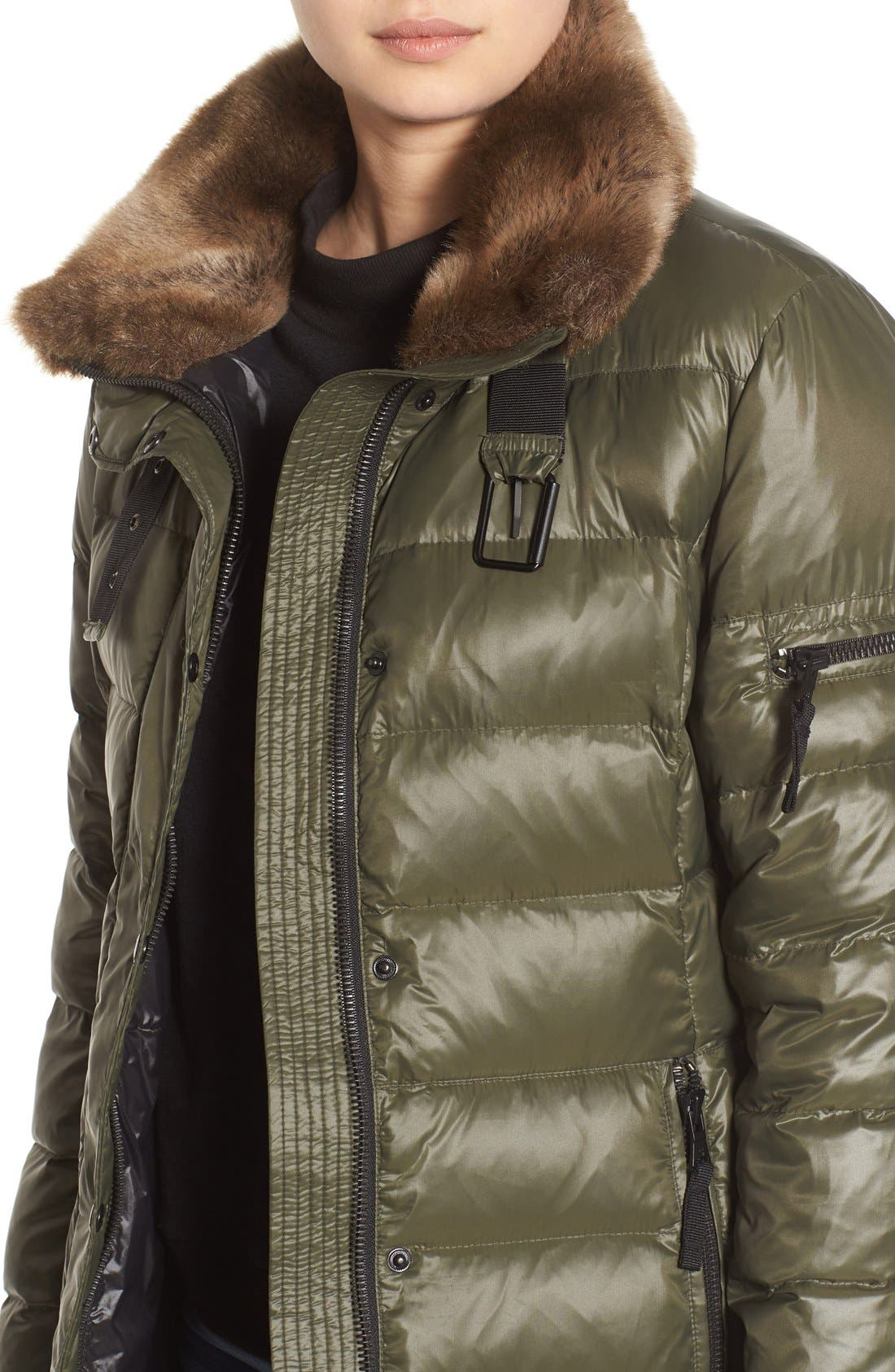 ,                             'Chelsea' Gloss Down Jacket with Removable Hood and Faux Fur Trim,                             Alternate thumbnail 7, color,                             330