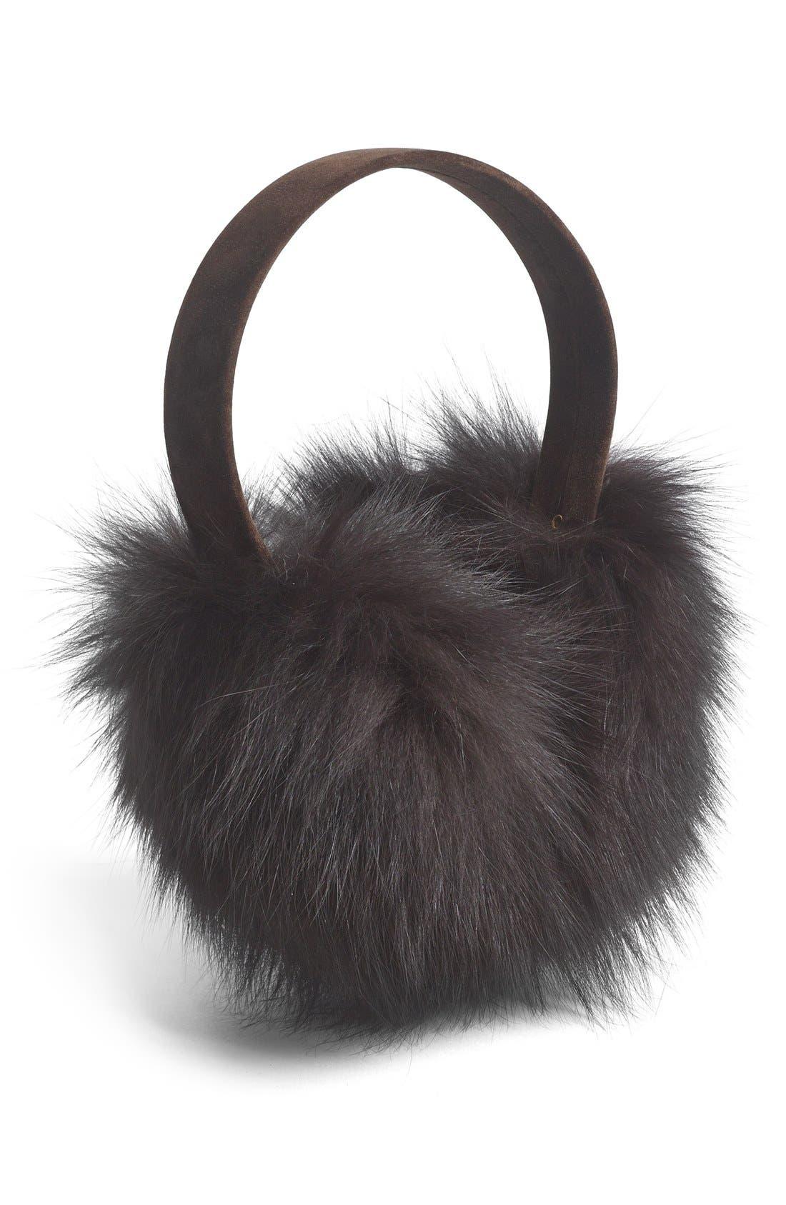 ,                             Genuine Fox Fur Earmuffs,                             Main thumbnail 11, color,                             200