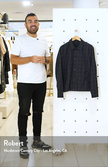 Karl Classic Fit Plaid Snap-Up Jacket, sales video thumbnail