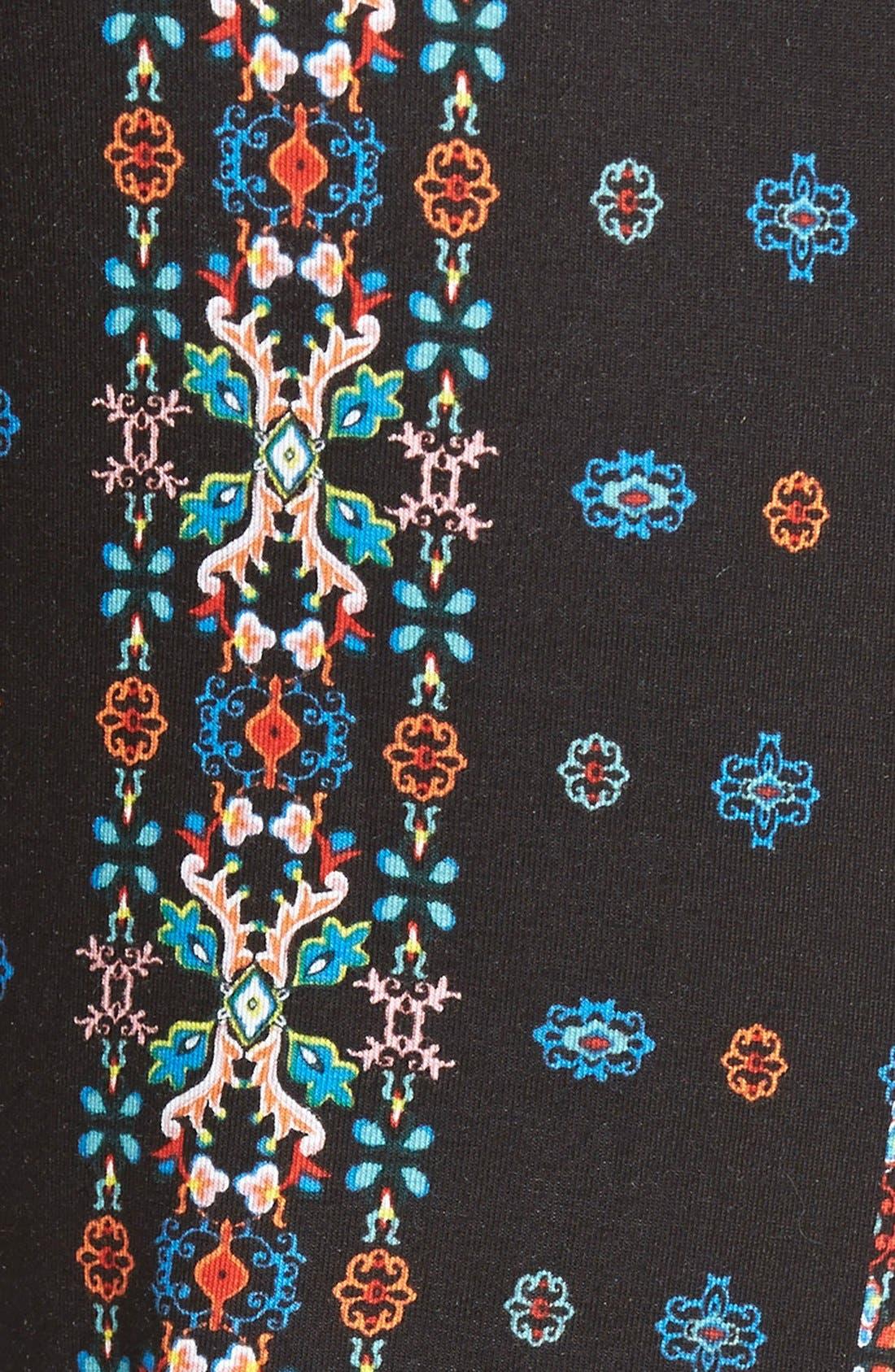 ,                             Mixed Print Flare Leg Pants,                             Alternate thumbnail 85, color,                             404