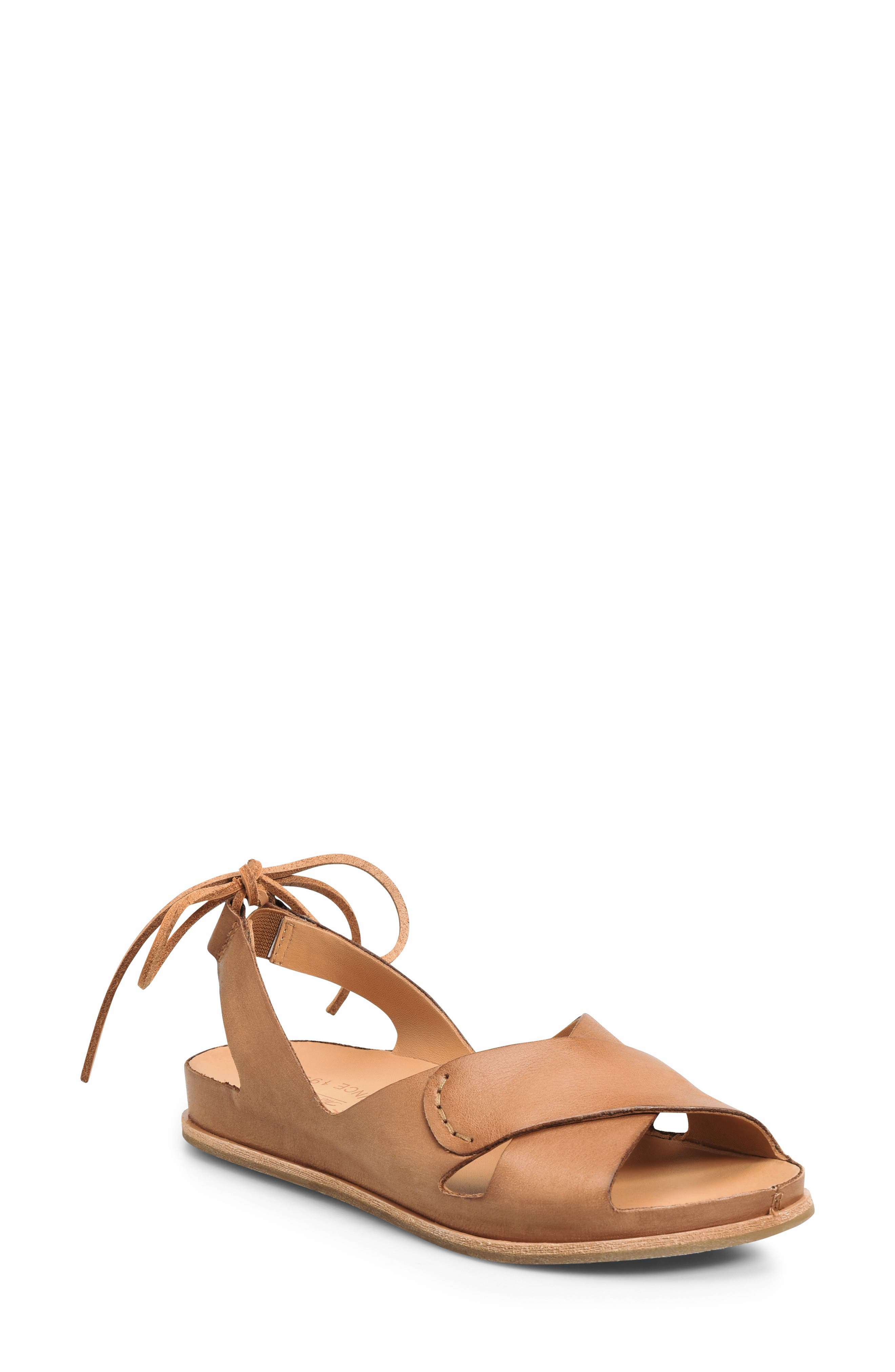,                             Aaron Sandal,                             Main thumbnail 1, color,                             BROWN LEATHER