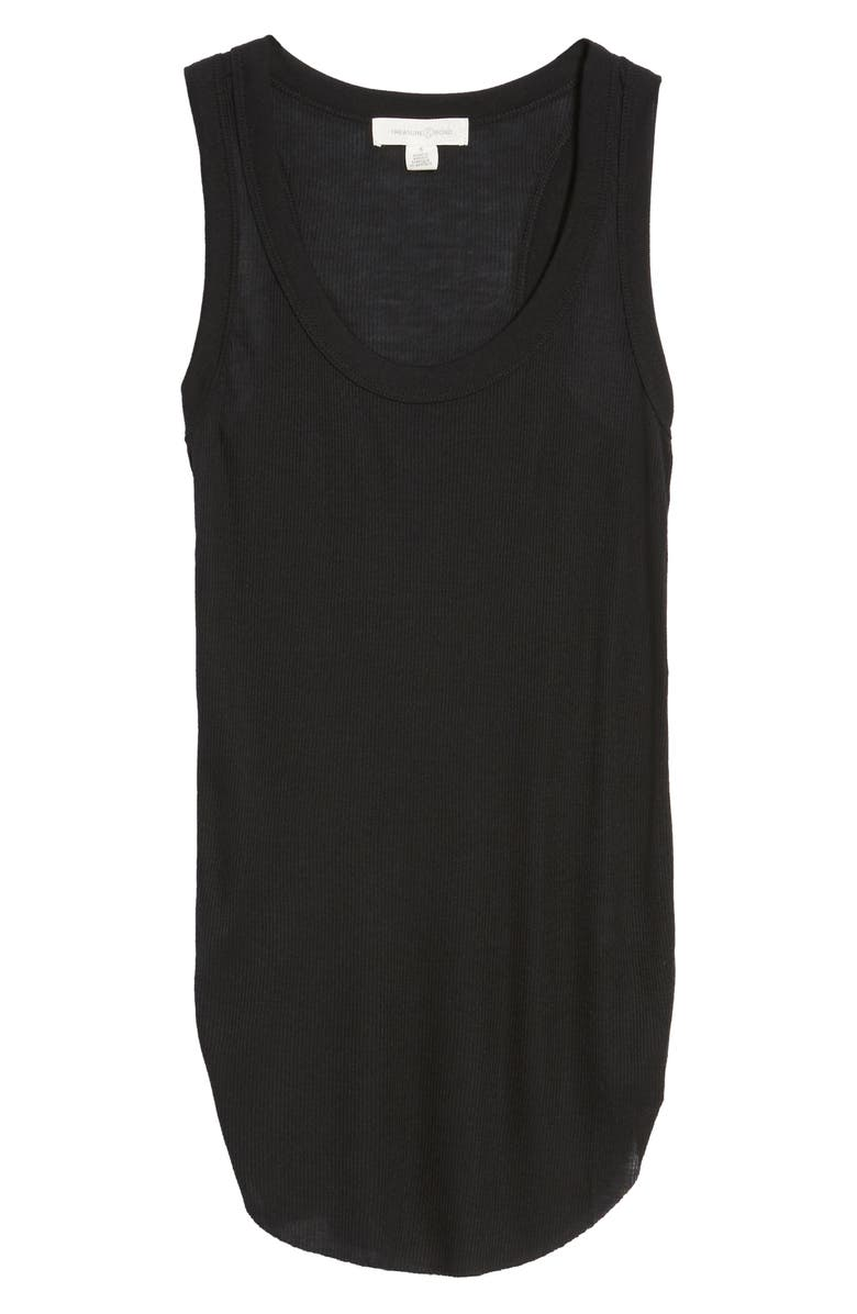 TREASURE & BOND Ribbed Racerback Tank, Main, color, BLACK