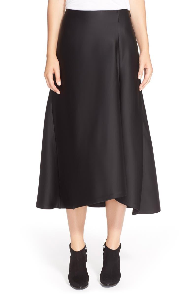 THEORY 'Maity TS' A-Line Midi Skirt, Main, color, 001