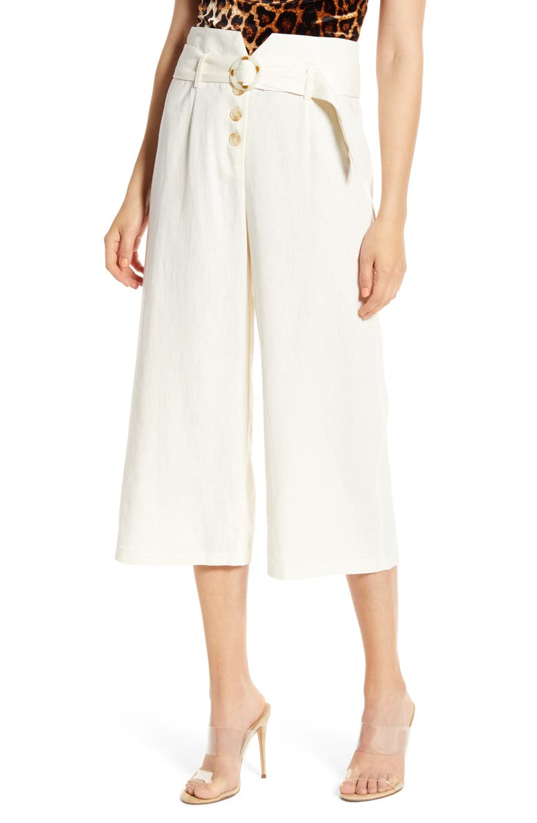Belted High Waist Culottes by June & Hudson