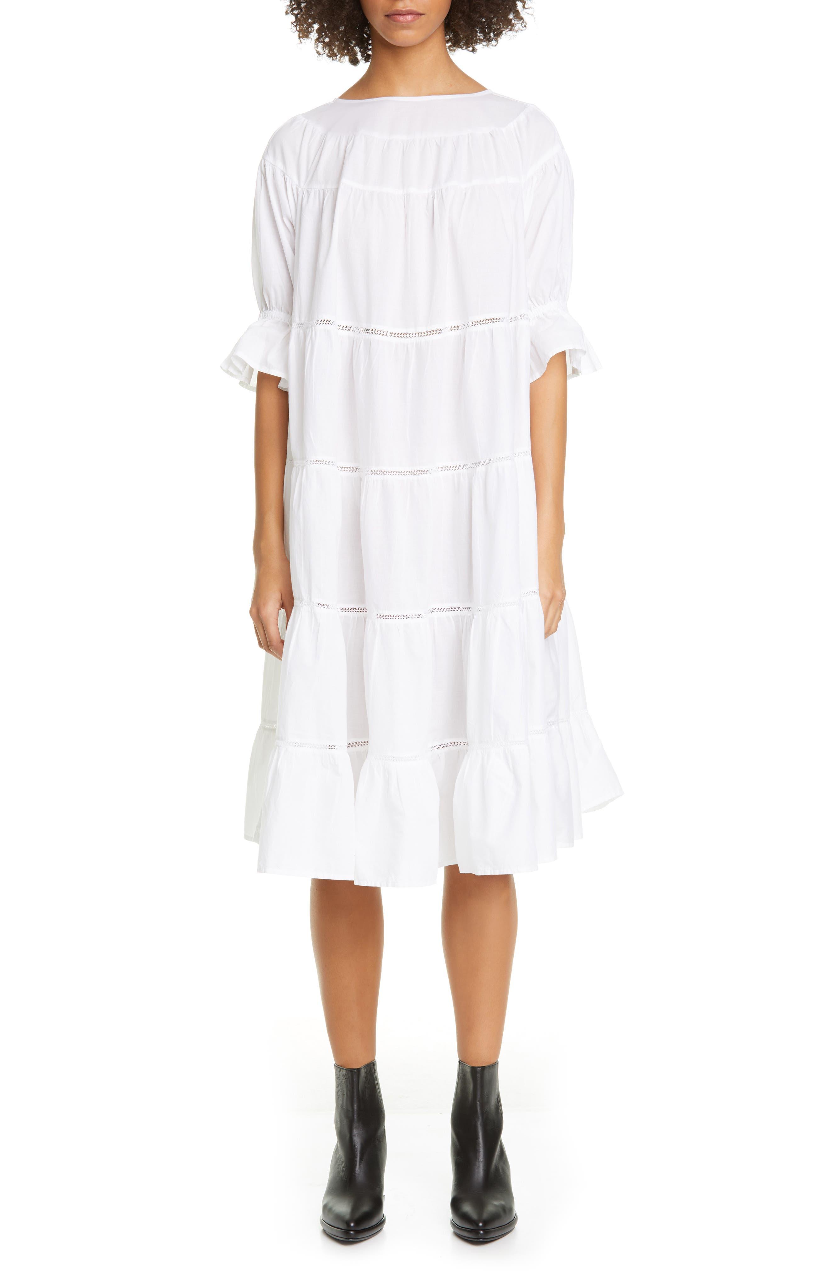 Paradis Open Tier Cotton Dress