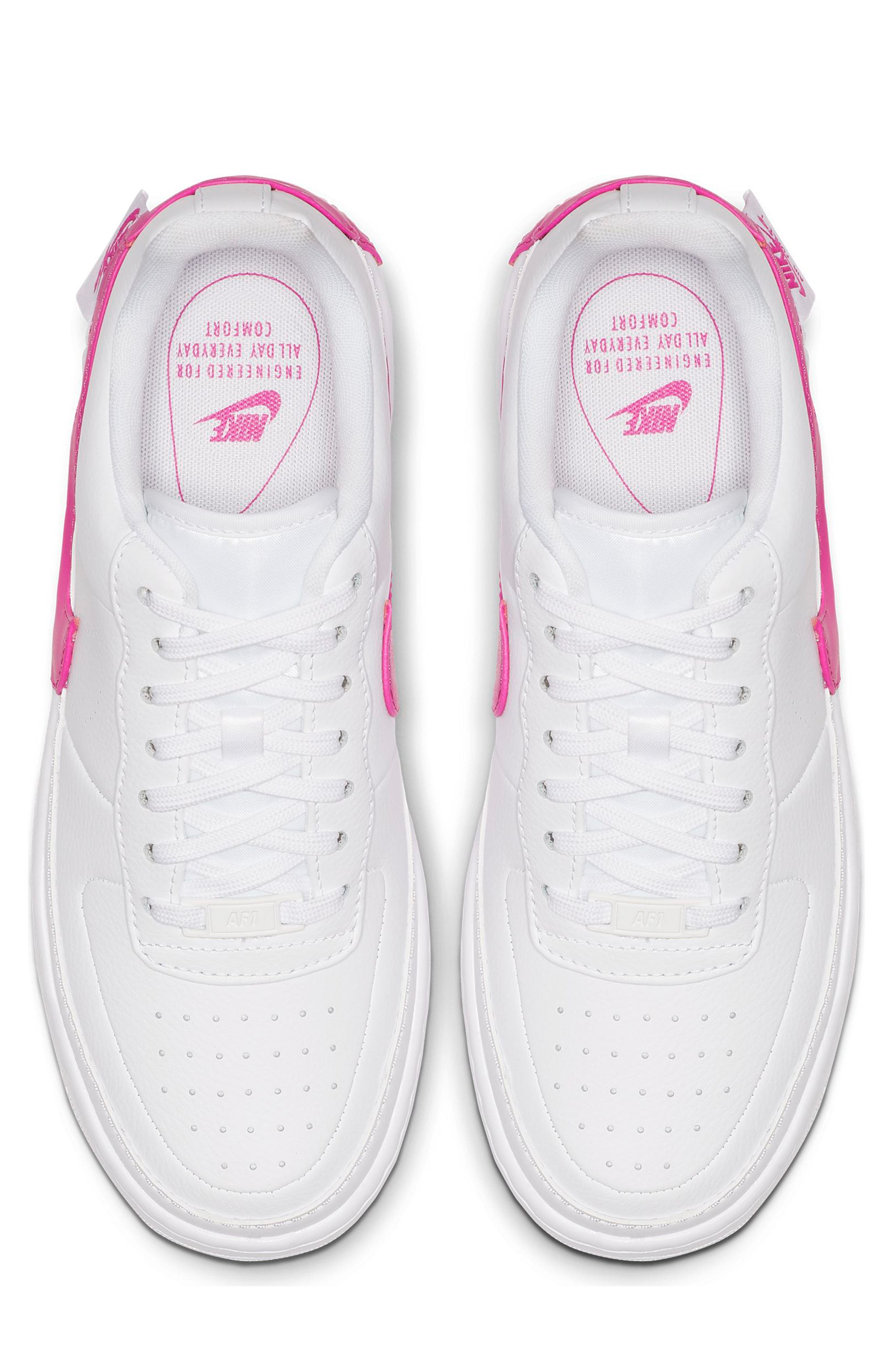,                             Air Force 1 Jester XX Sneaker,                             Alternate thumbnail 4, color,                             WHITE/ LASER FUCHSIA