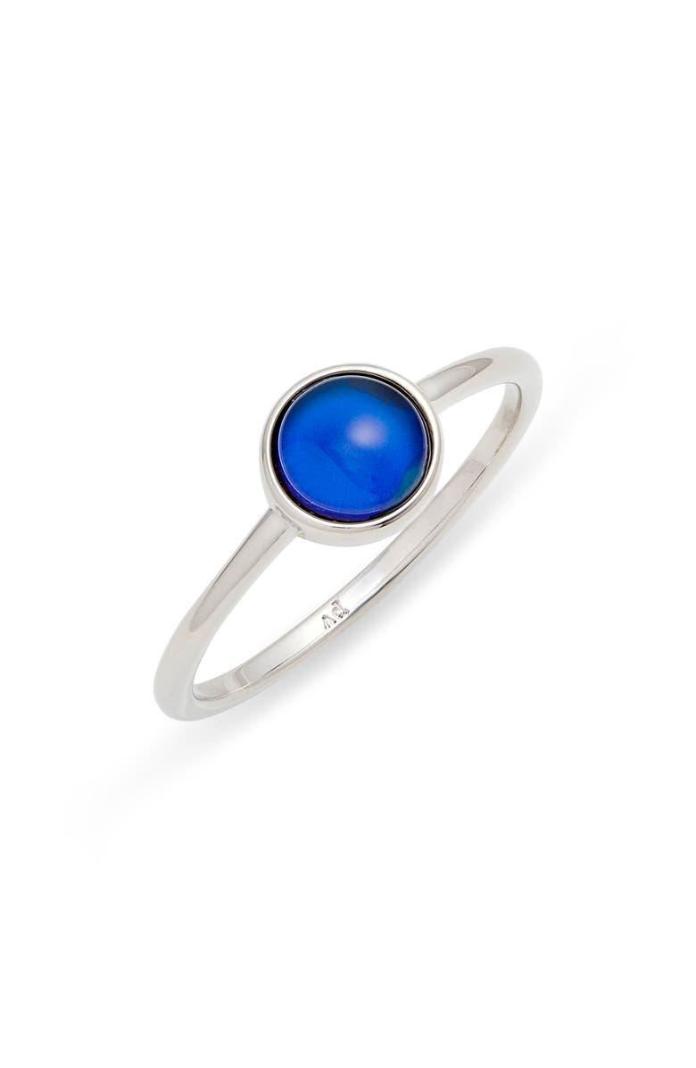 PURA VIDA Mood Ring, Main, color, SILVER