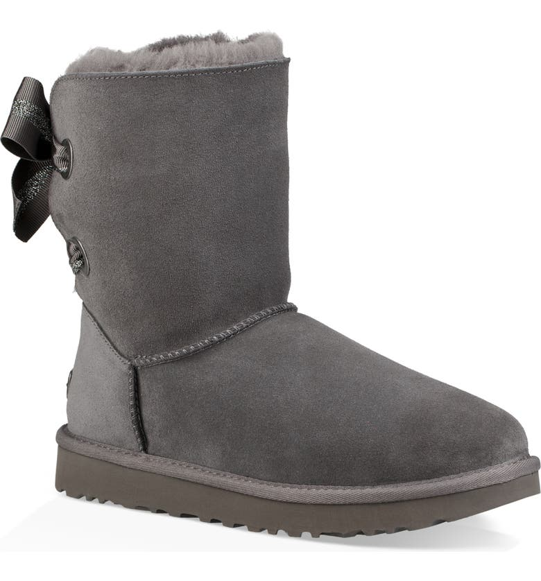 5981842e80b Customizable Bailey Bow Genuine Shearling Bootie
