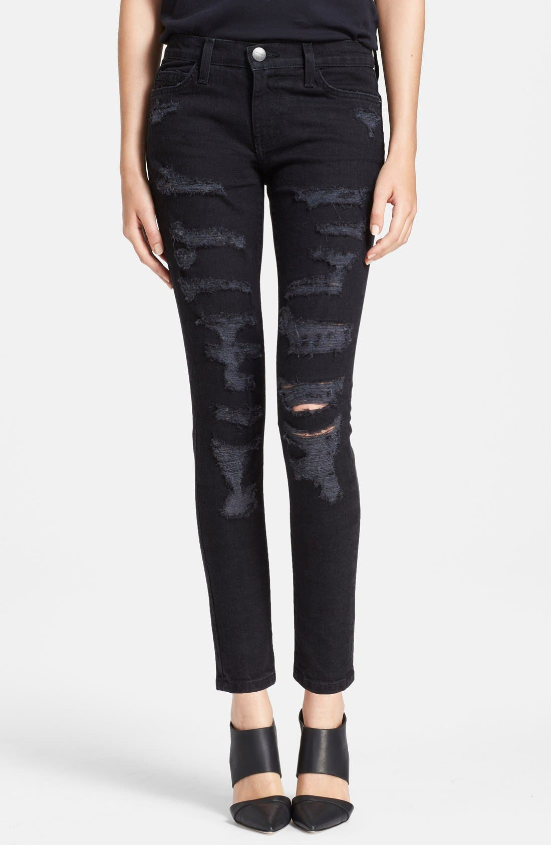 ,                             'The Stiletto' Destroyed Skinny Jeans,                             Main thumbnail 6, color,                             005