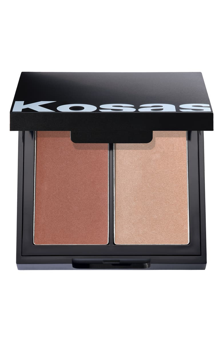 KOSAS Color & Light Intensity Powder Blush & Highlighter Palette, Main, color, CONTRACRHOMA
