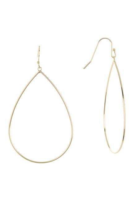 Image of Rivka Friedman 18K Gold Clad Teardrop Wire Earrings