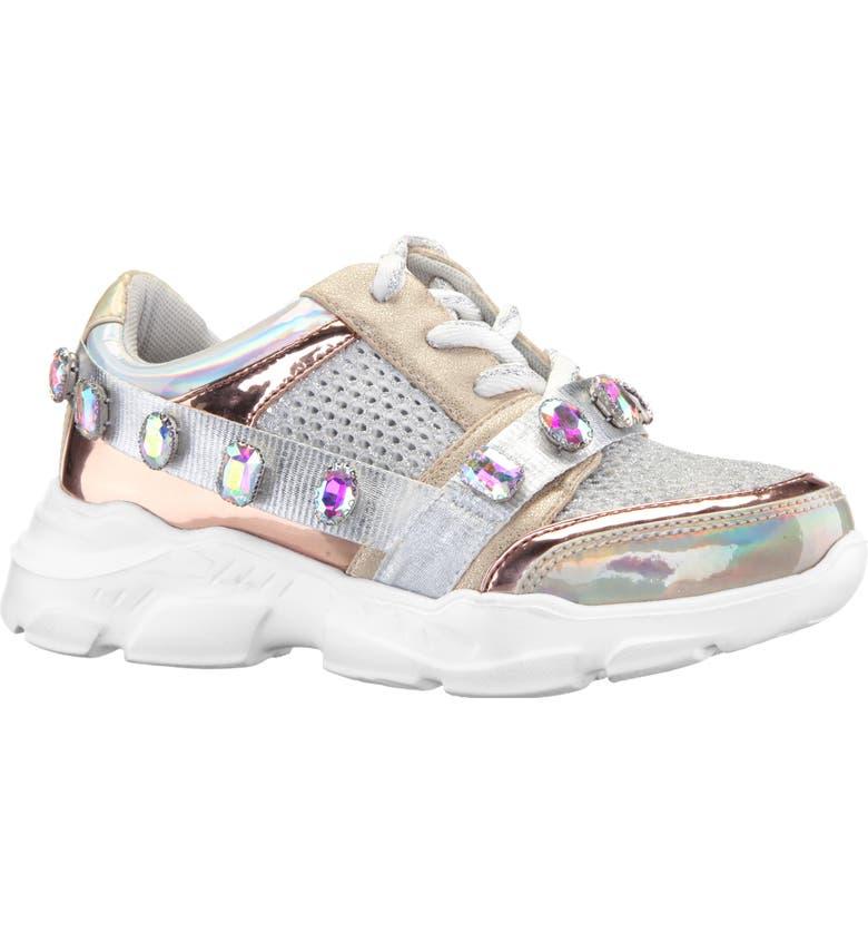 NINA Jasminda Sneaker, Main, color, SILVER MULTI METALLIC