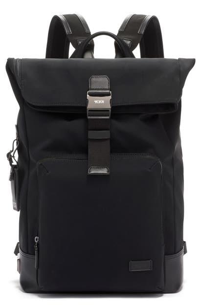 Tumi Backpacks HARRISON OAK ROLLTOP BACKPACK - BLACK